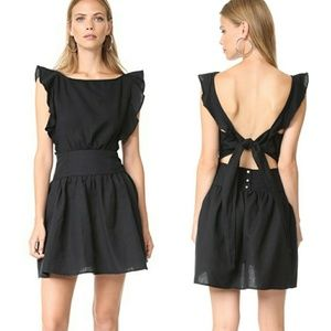 Erin Mini Dress Open Back Tie Flutter Shoulder